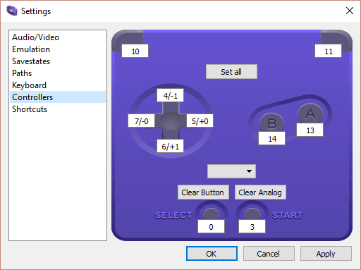 visual boy advance not recognizing controller