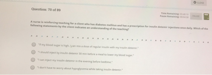 a nurse is teaching a client who has diabetes mellitus about insulin injections-0
