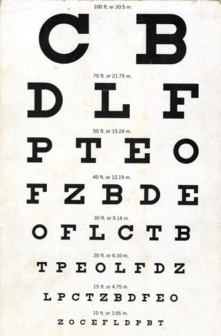 a person who is legally blind sees at 20 feet what a person with normal vision sees at _______ feet-4