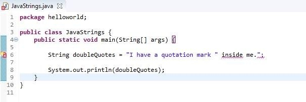 how to print quotation marks in java-2