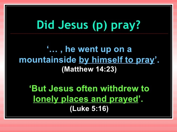 if jesus is god who did he pray to-2
