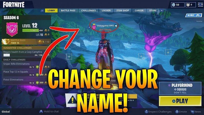 change name on fortnite-0