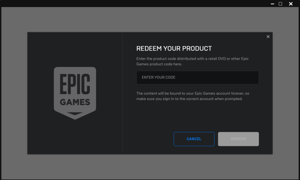 How to Redeem Code on Epic Games Store - Unlock a Game Key ...