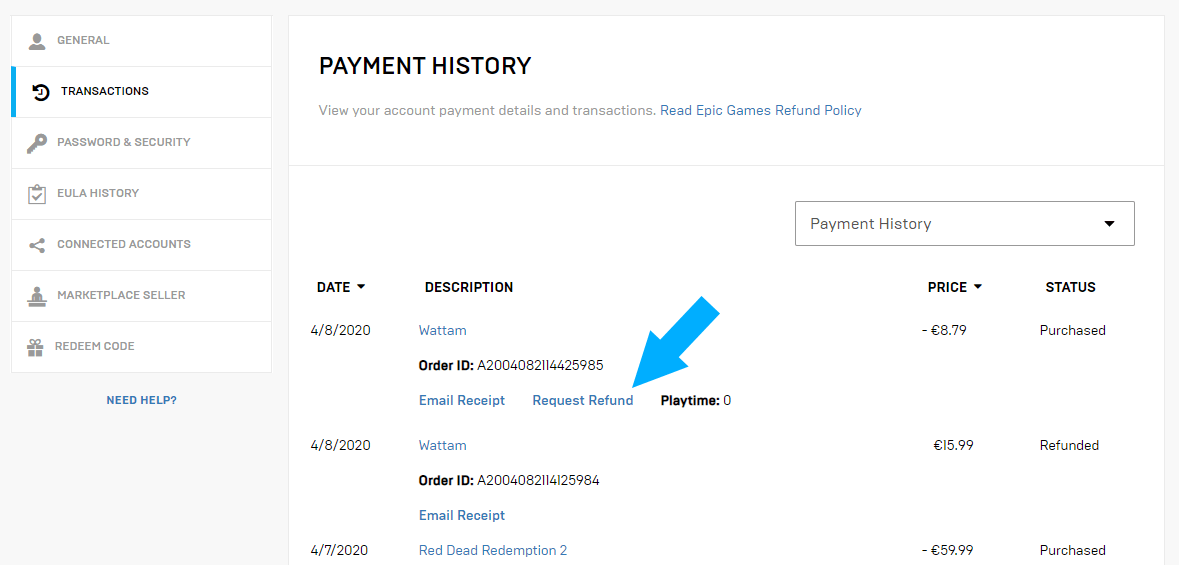 epic games store refund-3